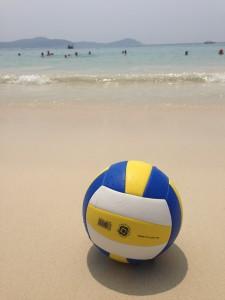 bold på strand